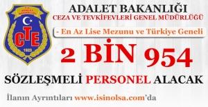Ceza ve Tevkifevleri Genel Müdürlüğü Sözleşmeli 2 Bin 954 Personel Alacak