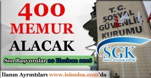 SGK 400 Memur Alacak