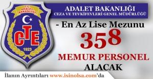 Adalet Bakanlığı CTE 358 Memur Personel Alacak