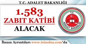 Adalet Bakanlığı 1583 Zabıt Katibi Alacak