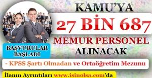 Kamuya 27 Bin 687 Memur Personel Alınacak