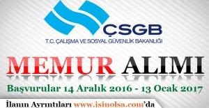 Çalışma ve Sosyal Güvenlik Bakanlığı AB Memur Alım İlanı