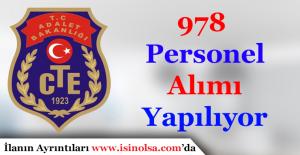 Ceza ve Tevkifevleri Genel Müdürlüğü 978 Personel Alımı Yapıyor