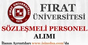 Fırat Üniversitesi Sözleşmeli Personel Alımı