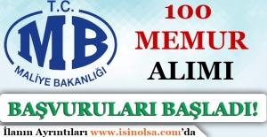 Maliye Bakanlığı 100 Memur Alımı Başvuruları Başladı!