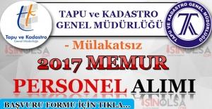 Tapu ve Kadastro 2017 Memur Personel Alımı