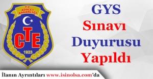 Ceza ve Tevkifevleri Genel Müdürlüğü GYS İlanı Yayımlandı