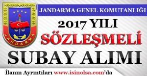 Jandarma Genel Komutanlığı 2017 Sözleşmeli Subay Alımı