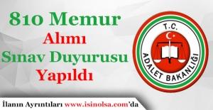 Adalet Bakanlığı Açıktan 810 Memur Alımı Sınav Duyurusu Yapıldı!