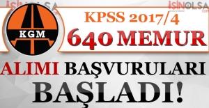 Karayolları Genel Müdürlüğü KPSS 2017/4 640 Memur Alımı Başvuruları Başladı