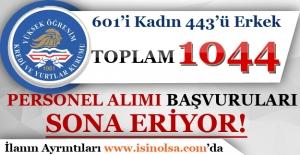 KYK 1044 Personel Alımı Başvuruları Sona Eriyor!