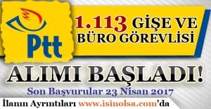 PTT 1.113 Gişe ve Büro Personeli Alımı Yapıyor