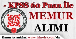 KPSS 60 Puan İle Kastamonu'da Personel Alımı Yapılacak