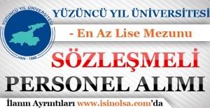 Yüzüncü Yıl Üniversitesi 13 Sözleşmeli Personel Alıyor