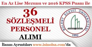 Bülent Ecevit Üniversitesi En Az Lise Mezunu Sözleşmeli Personel Alımı