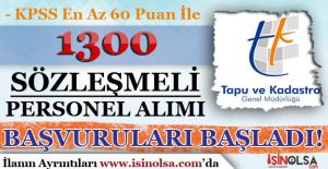 Tapu Kadastro KPSS En Az 60 Puan İle 1300 Sözleşmeli Personel Alımı Başladı!
