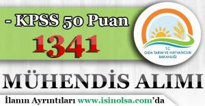 Tarım Bakanlığı KPSS 50 Puan İle 1341 Mühendis Alımı Yapıyor