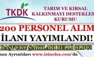 TKDK 200 Personel Alım İlanı Yayımlandı! Başvuru Şartları