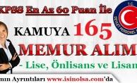 KPSS En Az 60 Puan İle Kamuya 165 Memur Personel Alınıyor!