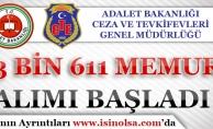 Adalet Bakanlığı CTE 3 Bin 611 Memur Personel Alımı Başvuruları Başladı!