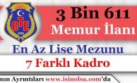 Adalet Bakanlığı CTE 3 Bin 611 Memur ve Personel Alımı İlanı Yayımlandı! En Az Lise Mezunu