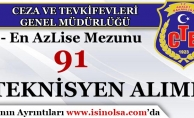 Ceza ve Tevkifevleri Genel Müdürlüğü 91 Teknisyen Alım İlanı Yayımladı