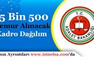Adalet Bakanlığı 15 Bin 500 Memur Alacak! Pozisyonlara Kadrolara Göre Dağılım