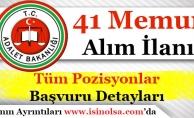 Adalet Bakanlığı 41 Memur Alımı İlanı! Tüm Pozisyonlar ve Detaylar
