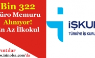 Bin 322 En Az İlkokul Mezunu Büro Memuru Alımı Yapılıyor!
