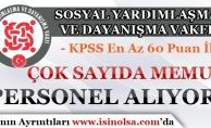 Çok Sayıda SYDV KPSS 60 Puan İle Memur Personel Alımı Yapıyor!
