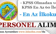 Atabey Sulama Birliği KPSS 60 Puan ve KPSS Şartı Olmadan Personel Alımı Yapıyor!