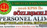 Yargıtay 2016 KPSS İle Kamu Personeli Alımı Başvuruları Sona Eriyor!
