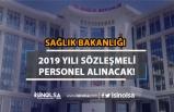 Sağlık Bakanlığı 2019 Yılı Sözleşmeli Personel Alımı Yapılacak!