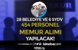 İŞKUR İle 28 Belediye ve 6 SYDV 454 Personel ve Memur Alımı Yapıyor!