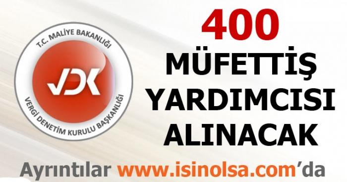 400 Vergi Müfettiş Yardımcısı Alınacak