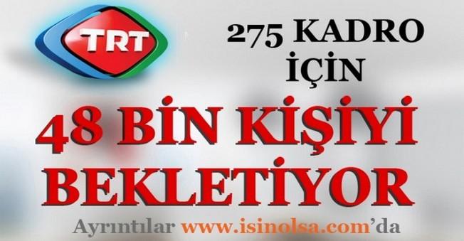 TRT 275 Kadro İçin 48 bin Kişiyi Bekletiyor