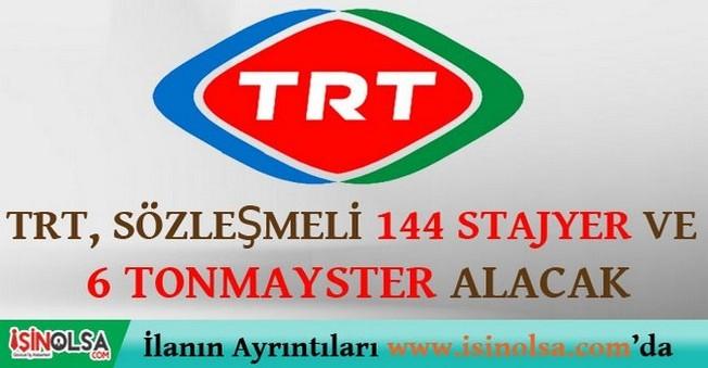 TRT Stajyer Sanatçı ve Tonmayster Alımı 2015