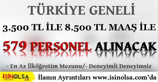 Türkiye Geneli İlköğretim Mezunu 579 Gemi Personeli Alınacak