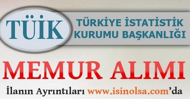 Türkiye İstatistik Kurumu 33 Memur Alacak