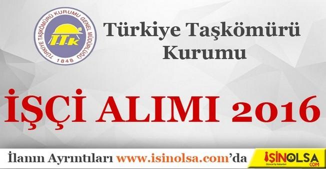 Türkiye Taşkömürü Kurumu İşçi Alımı 2016