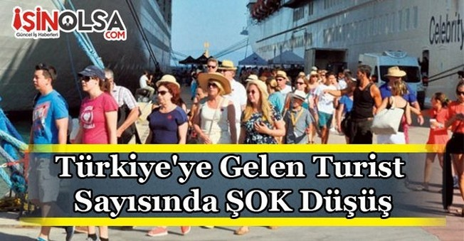 Türkiye'ye Gelen Turist Sayısında ŞOK Düşüş