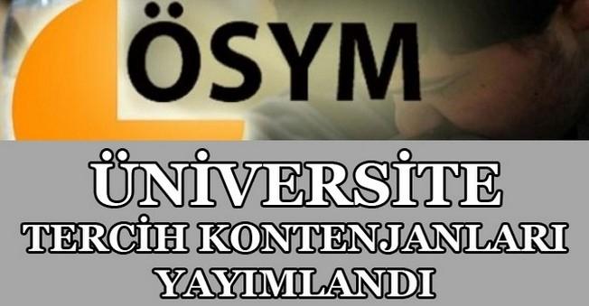 Üniversite Tercih Kontenjanları Yayımlandı