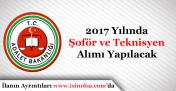 2017 Yılında Adalet Bakanlığı Şoför ve Teknisyen Alımı Yapacak