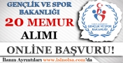 Gençlik ve Spor Bakanlığı 20 Avukat Alım İlanı Yayınladı