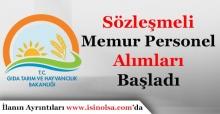 Gıda Tarım ve Hayvancılık Bakanlığı Sözleşmeli Memur Personel Alımı Yapıyor