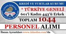 Kredi ve Yurtlar Kurumu 1044 Sözleşmeli Personel Alımı