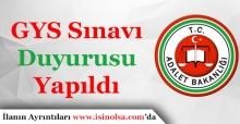 Adalet Bakanlığı GYS ve Ünvan Değişikliği Sınavı Duyurusu