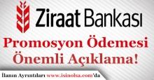 Ziraat Bankasından Emekliye Promosyon Ödemeleri İçin Önemli Duyuru