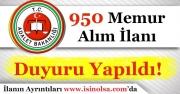 Adalet Bakanlığı 950 Memur Alımı Yapacak!