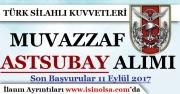 Türk Silahlı Kuvvetleri Dış Kaynaktan Muvazzaf Astsubay Alımı 2017
